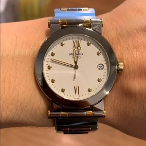 Movado Vizio Stainless Steel & 18K Gold Watch